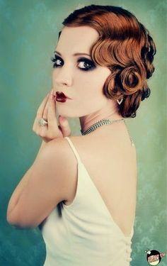 Love her hair the fingerwaves and pincurls are so pretty yay for vintage hair