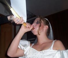 bride wild Drunk gone