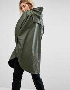 Rains Waterproof Poncho at ASOS. Iranian Women Fashion, Womens Fashion, Waterproof Poncho, Raincoats For Women, Hoodie Dress, Rain Wear, Parka, Silhouettes, Nylons