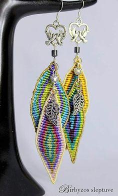 Macrame Earrings, Macrame Jewelry, Macrame Bracelets, Diy Jewelry, Crochet Earrings, Jewelry Accessories, Beaded Necklace, Jewelry Making, Diy Fabric Jewellery