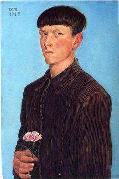 Otto Dix, Self Portrait, 1912