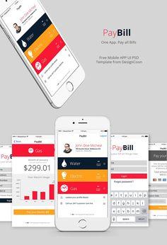 Bill Pay Mobile App UI PSD