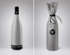 Op-art es la opción para esta etiqueta de vino