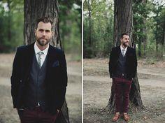 ♥ a groom who can rock velvet! Australian Kangaroo Valley Wedding: Marissa + Alex