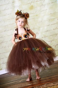 Owl tutu dress and matching headband