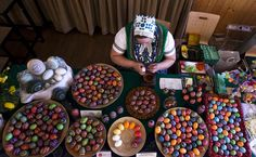 Kerstin Hanusch, a Sorb woman, paints an Easter egg at a market in Schleife, about 160 kilometers miles) south-east of Berlin. Holiday Celebrations Around The World, Celebration Around The World, Incredible Eggs, Central And Eastern Europe, Ukrainian Easter Eggs, Easter Traditions, Easter Celebration, Egg Decorating, Egg Shells