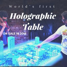 The world's first multi-user hologram table is here, on sale in 2018. Let's try it! :http://wp.me/p7wTbi-2jF