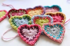 A free pattern for Bohemian style hearts:  Boho Hearts by Cherry Heart