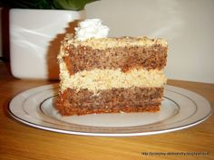 My most delicious cake. Adored by everyone who tries it at least once. Interesting fact: in this cake there is not even a gram . Polish Desserts, Polish Recipes, Polish Food, Walnut Cake, Drip Cakes, Cake Ingredients, Food Cakes, Holiday Desserts, Let Them Eat Cake