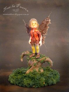 Faerie Samhain. Ooak and Fantasy creations by Silver Berry.  Ooak Art Doll One of a Kind Fantasy Sculpture.