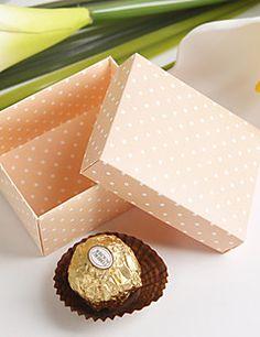 roze voordeel doos met polka dots (set van 12) – EUR € 2.87