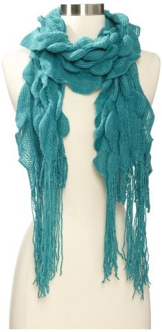 Amazon.com: collection eighteen Women's Solid Pucker Fringe Muffler, Silver Pine, One Size: Clothing