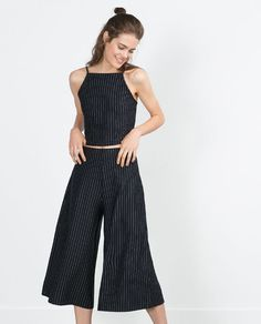 Image 1 of STRIPED TROUSERS from Zara