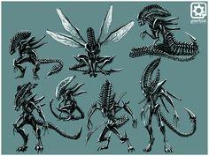 Kale Menges: Concept/2D Artist & Graphic Designer: Aliens: Colonial Marines: Creature Designs