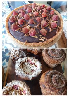 Some of the fabulous pastries at King Arthur Cafe. They do breakfast too! * Read about it at TIFFIN - bite sized food adventures - Brisbane Restaurants, Australian Bloggers, Bite Size Food, King Arthur, Restaurant Bar, Pastries, Spaces, Eat, Cooking