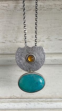 Eilat Pendant , Silver Pendant With Eilat Stone , Eliat Stone Necklace