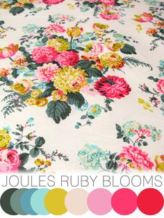 colour crush : Joules Ruby blooms | Emma Lamb                              …