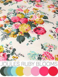 colour crush : Joules Ruby blooms | Emma Lamb