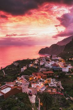 La Gomera Sunrise. Canary Islands. Spain