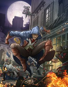 The Game Magazine - Assassins Creed Unity by Patrick Brown Assasins Creed Unity, Assassins Creed Art, Patrick Brown, Assasins Cred, Arno Dorian, All Assassin's Creed, Brown Art, Video Game Art, Video Games