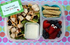 Fiesta Ranch Chicken Salad packed for a healthy school lunch! | packed in @EasyLunchboxes containers