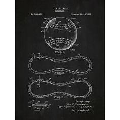 Found it at Wayfair - Sporting Goods 'Baseball' Silk Screen Print Graphic Art in Chalkboard/White Ink