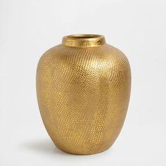 Golden terracotta vase - Vases - Decor & pillows | Zara Home United States