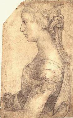 A Study by Raphael, (Raffaello Sanzio da Urbino) Italian Renaissance Art, Renaissance Kunst, Renaissance Portraits, High Renaissance, Drawing Sketches, Art Drawings, Figure Drawings, Drawing Studies, Pierre Auguste Renoir