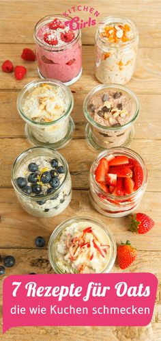 7 recipes for Oats that taste like cake - Frühstück - Breakfast Smoothie Breakfast Bake, Breakfast Smoothies, Best Breakfast, Healthy Smoothies, Breakfast Recipes, Brunch Recipes, Blueberry Overnight Oats, Oatmeal Recipes, Porridge Recipes