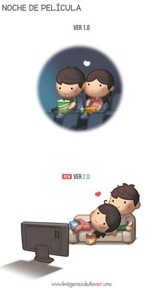 21 Illustrations that depict love and [zoeiras] that exist between a couple a . Hj Story, Cute Love Cartoons, Cute Cartoon, Cute Love Stories, Love Story, Love Is, True Love, Ah O Amor, Cute Comics