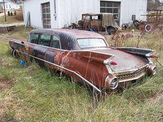 59 Cadillac limo rotting away