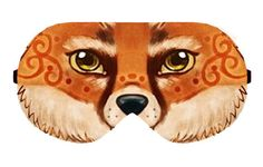 Fox Painting Sleep Sleeping Eye Mask Masks Cover Sleep Mask Sleepmask Sleepmasks Night Blindfold Blindfolds Travel Kit patch patches Slumber by venderstore on Etsy