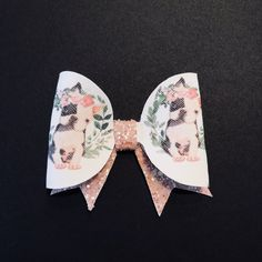 Frenchie Dog Glitter Bow Clip