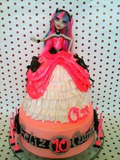 Monster High Rochelle Goyle Doll Cake — Children's Birthday Cakes - Pnut is getting her own cake and this is the one she wants.