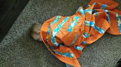 Grandson can fall asleep anywhere as long as he has his quilt   This quilt was made with love from a very special person for my grandson