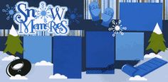 Snow Memories Page Kit  out on a limb scrapbooking