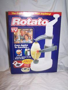VINTAGE ROTATO As seen on TV Manual Potato Veggie/Fruit Peeler w/ bonus cutter