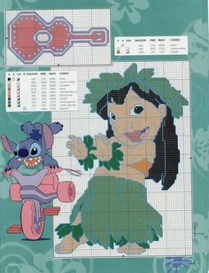 lilo e stitch Disney Stitch, Lilo Stitch, Lilo And Stitch 2002, Lelo And Stitch, Stitch Cartoon, Disney Cross Stitch Patterns, Cross Stitch Designs, Cross Stitching, Cross Stitch Embroidery