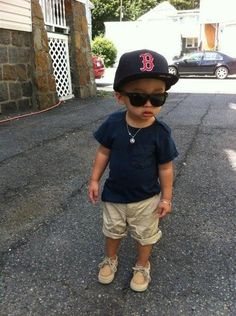 Kids Fashion.      Boston and Sperry's --- Oh my god, how cute is this?! Both kiddos want a Boston hat