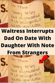 #Waitress #Interrupts Dad On Date With #Daughter With Note From #Strangers
