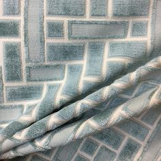 A gorgeous teal velvet that incorporates a geometric pattern. Perfect for pillows, upholstery, and more! Window Seat Cushions, Geometric Fabric, Pillow Fabric, Coordinating Fabrics, Fabric Samples, Blue Velvet, Panel Curtains, Custom Pillows, Accent Pillows
