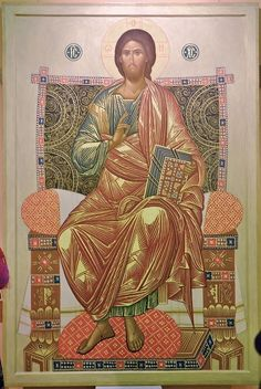 """From December 2015 to January, 2016 (Moscow, Russia) """"Tsar's Tower"""" exhibition hall, in Kazansky railway station, hosted a large-scale exhibition entitled """"Contemporary Iconographers … Orthodox Icons, Byzantine Art, Renaissance Art, Jesus Christ Images, Christ The King, Art, Best Icons, Art Icon, Sacred Art"""