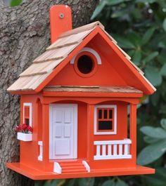 Bon Home Bazaar Birds Of A Feather Cafe Au Lait Cottage Birdhouse, Decorative  Bird Houses At Songbird Garden