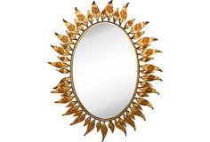 Brass Leaf Mirror on OneKingsLane.com