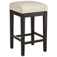 Like our popular Mason Counter Stool, this stool features simple lines, including a hand-built wooden frame with smooth, durable bonded leather. Baseball-stitched seams on the top of the seat enhance its modern design, as do tapered legs finished in deep espresso. The difference? This clever variation specializes in tight spaces and slides neatly under bar or countertop.