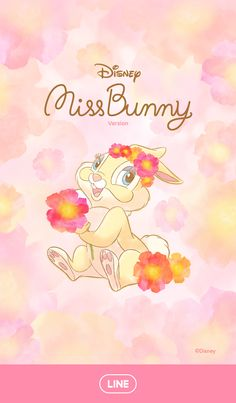 Miss Bunny from the classic tale Bambi arrives with her first LINE theme! The beautiful watercolor flowers add a soft and cute touch to all of your screens. Disney Phone Wallpaper, Kawaii Wallpaper, Cartoon Wallpaper, Iphone Wallpaper, Cute Disney, Baby Disney, Disney Art, Disney Princess, Panpan Bambi