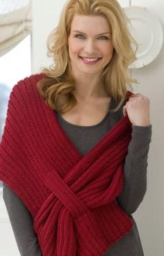 Ribbed-slit-shawl knitting pattern  I would love to make this out of a nice wool