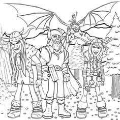 How To Train Your Dragon Viking Rider From Coloring Pages