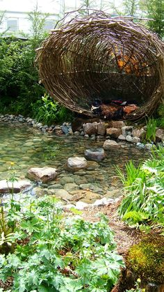 Garden nest for children (and adults that are young at heart) One day when we have a farm, I'm totally making this! (Step House Backyards)