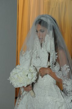 Wedding Gown, Veil and Head Piece: Zuhair Murad; Photography: Bright Light Image Photography, Beirut, Lebanon and Dubai, UAE c/o Grace Ormonde Wedding Style